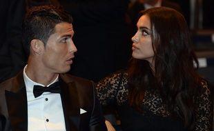 Cristiano Ronaldo et Irina Shayk, le 13 janvier 2014 à Zurich.