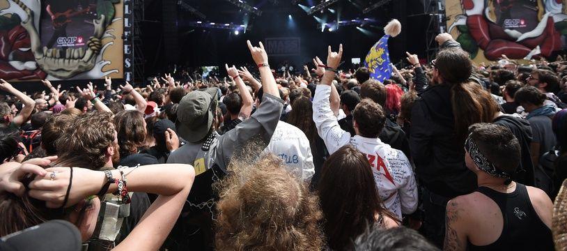 Concert lors de l'édition 2016 du Hellfest, à Clisson.
