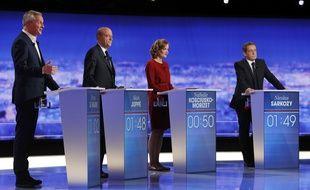 Image du premier débat de la primaire à droite.
