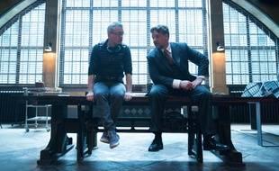Alex Kurzman et Russell Crowe sur le tournage de La Momie