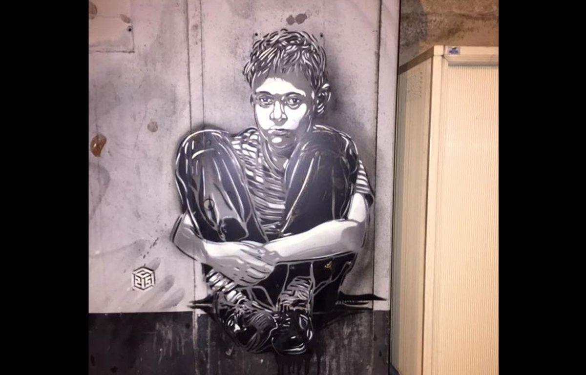 A Reims, l'oeuvre du street artist C215 a été effacée par erreur par la brigade anti-tags de la ville. – REIMS Street Art / Facebook