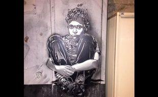 A Reims, l'oeuvre du street artist C215 a été effacée par erreur par la brigade anti-tags de la ville.