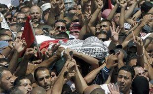 Enterrement de Mohammad Abou Khdeir, dans le quartier de Chouafat à Jérusalem-Est, le 4 juillet 2014
