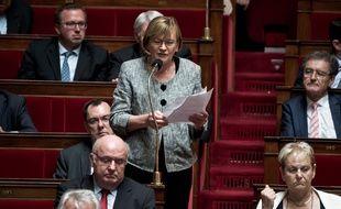 Marie-George Buffet, députée de la 4e circonscription en Seine-Saint-Denis sur les bancs de l'Assemblée nationale. (Illustration)