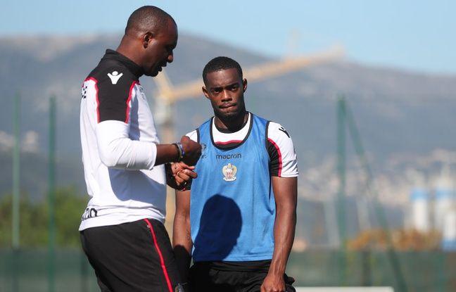 Patrick Vieira et Wylan Cyprien (OGC Nice)