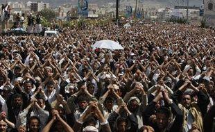Manifestation pour le départ du président Saleh, le 3 juin 2011, à Sanaa (Yémen).