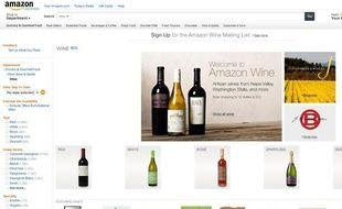 Amazon vend désormais du vin en ligne dans une partie des Etats-Unis.