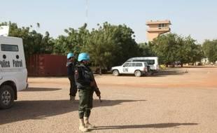 Des Casques bleus de l'ONU le 4 février 2016 à Tombouctou (Mali)