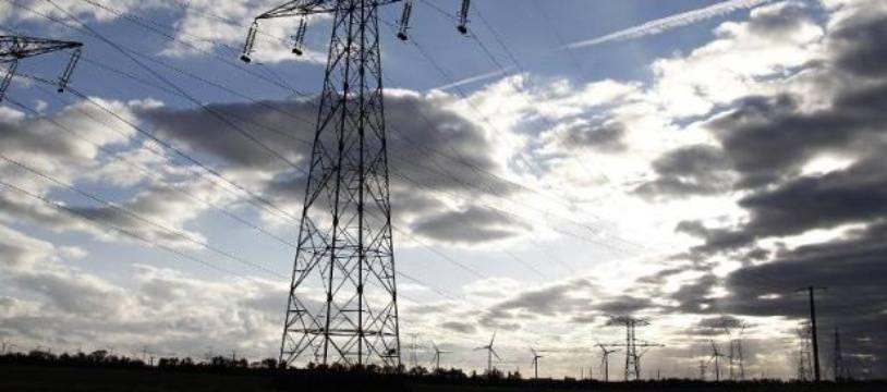 Un pylône électrique (illustration)