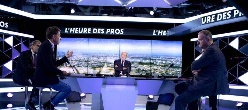 Le plateau de Pascal Praud sur CNEWS (illustration)