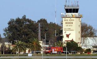Vue de la base aérienne militaire de Moron de la Frontera, près de Séville en Espagne, le 18 mars 2011