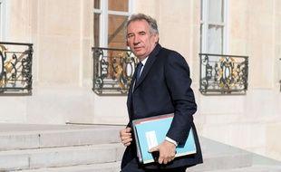 Le ministre de la Justice François Bayrou, le 7 juin 2017 à l'Elysée