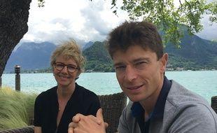 Notre lectrice Florence M. et Jean Sulpice à Talloires, au bord du Lac d'Annecy
