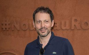 Marc-Olivier Fogiel à Roland Garros le 25 mai 2016