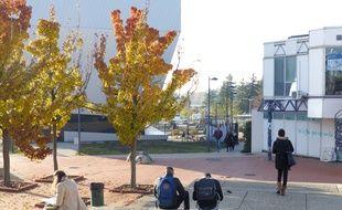 24/11/2017. Illustration à l'université Lumière Lyon II sur le campus de Bron