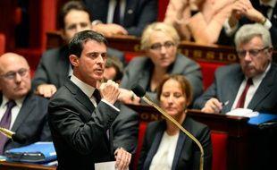 Le Premier ministre, Manuel Valls, à l'Assemblée le 18 novembre 2015