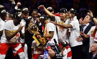 Les Raptors de Toronto ont remporté la finale de la NBA, face aux Golden State, le 13 juin 2019.