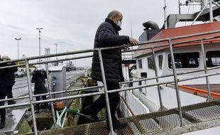 Jean-Yves Le Drian était en visite à Lorient le 4 janvier pour rencontrer les professionnels de la pêche.