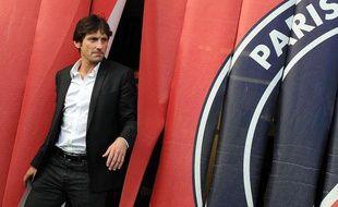 Leonardo, directeur sportif du PSG de juillet 2011 à juillet 2013, le 4 juillet 2013, au Parc des Princes.