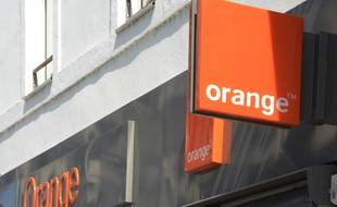 Une boutique Orange.