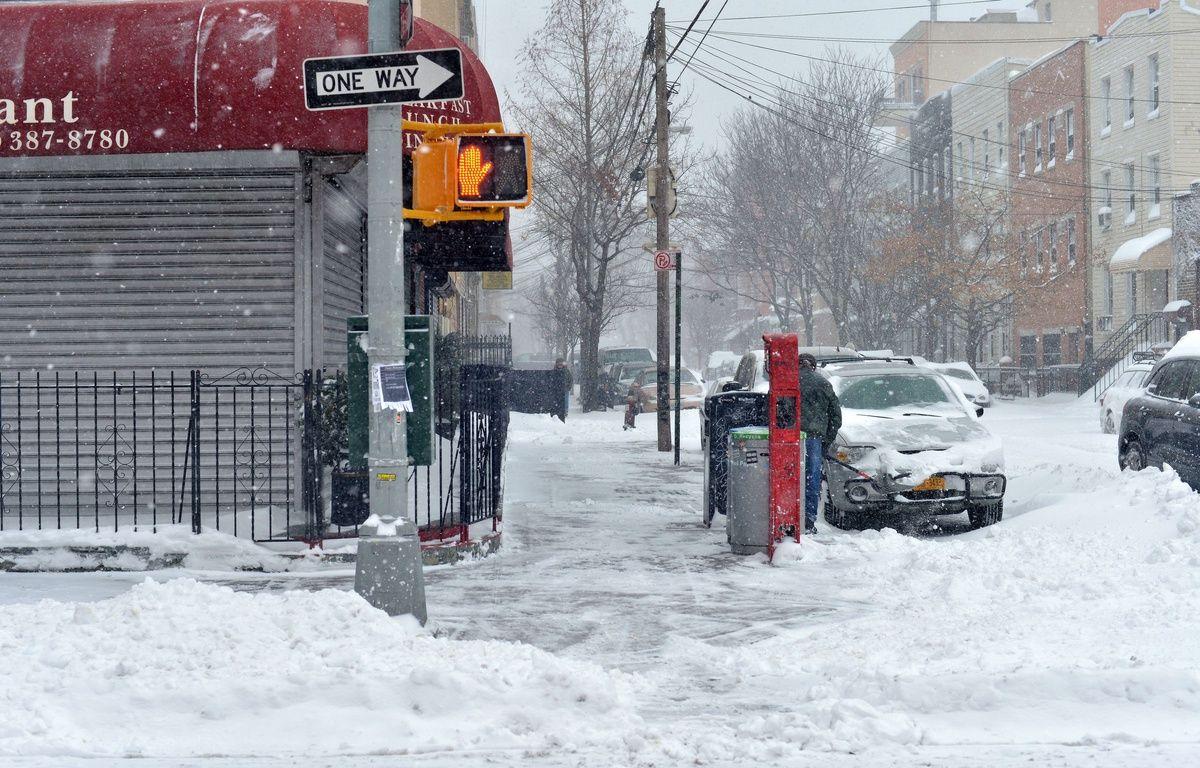 La tempête Jonas a frappé New York, le 23 janvier 2016. – SIPA