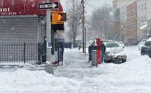 La tempête Jonas a frappé New York, le 23 janvier 2016.