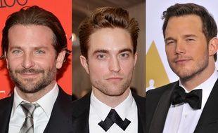 De gauche à droite, Bradley Cooper, Robert Pattinson et Chris Pratt.