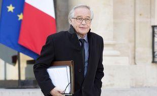 François Rebsamen à la sortie du conseil des ministres, le 11 février 2015 à Paris.