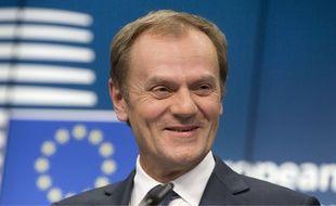 Donald Tusk, le président du Conseil européen le 18 décembre 2014 à Bruxelles.