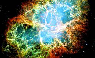 La nébuleuse du Crabe, rémanent de l'explosion d'une supernova de type II en 1054 de notre ère