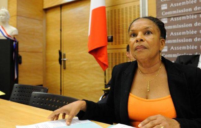 Christiane Taubira à Paris, le 17 juillet 2012.