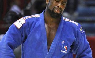 Teddy Riner apres sa défaite aux championnats du monde de Judo le 13 septembre 2010 à Tokyo