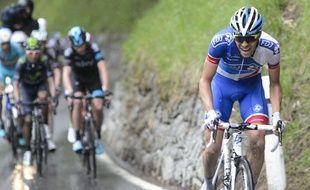 Thibaut Pinot sur le Tour de Suisse, le 2 mai 2015.