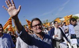Le président du gouvernement de Catalogne Artur Mas le 11 octobre 2014 à Manresa