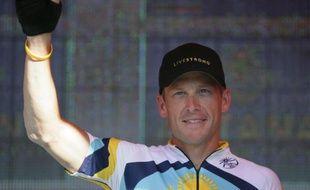 Le cycliste américain Lance Armstrong, lors du Tour Down Under, le 18 janvier 2009.