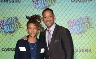 L'acteur Jaden Smith et son père Will Smith, à l'avant-première de Suicide Squad à New York