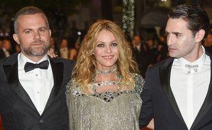 Yann Gonzalez, Vanessa Paradis et Nicolas Maury au Festival de Cannes, le 17 mai 2018.