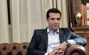 Le Premier ministre grec Alexis Tsipras a remis sa démission au président, le 20 août 2015.