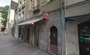 L'immeuble du 4, rue de l'Emery a Nantes a été évacué