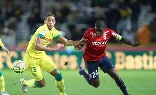 Rio Mavuba,le capitaine de Lille, lors de Nantes-Lille joué le 31 janvier 2015.