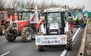 Une manifestation d'agriculteurs près de Toulouse, le 31 janvier 2018.
