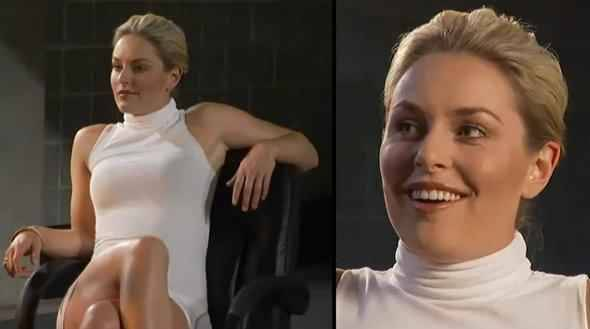 quand lindsey vonn se prend pour sharon stone. Black Bedroom Furniture Sets. Home Design Ideas