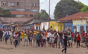 Manifestations à Kinshasa le 19 janvier 2015.