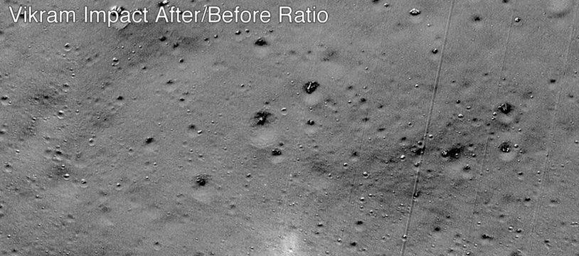 Les satellites de la Nasa ont photographié le point d'impact de la sonde.