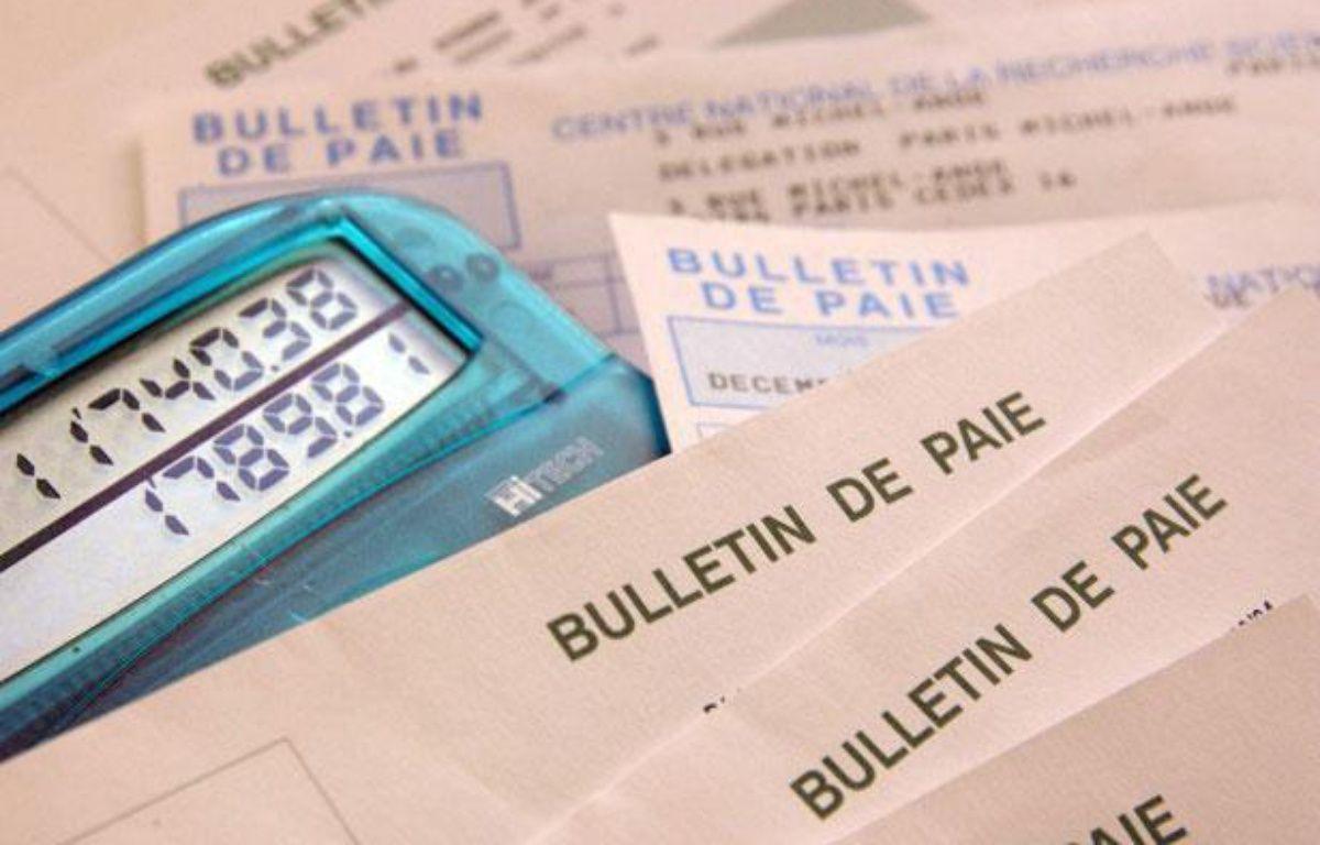 Bulletin de salaires, le 19 janvier. – DURAND FLORENCE/SIPA