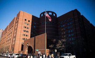 Le tribunal où est jugé Djokhar Tsarnaev, accusé de l'attentat du marathon de Boston, le 5 janvier 2015 à Boston