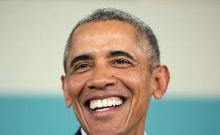 Barack Obama lors d'une conférence de presse en Californie, le 16 février 2016.