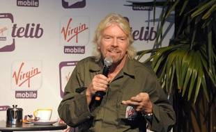 Sir Richard Branson, PDG de Virgin Group, à Paris, le mercredi 18 septembre.