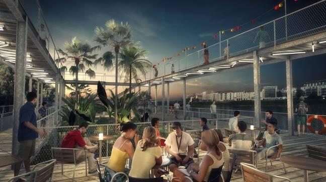 Le projet de bar-guinguette-restaurant sur le quai Doumergue