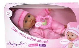 """La poupée """"Zoé mon bébé animé"""""""